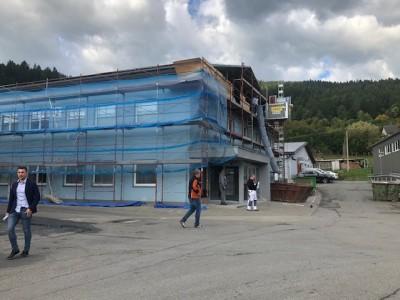 2019, reconstructie van de administratieve hal